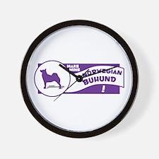 Make Mine Buhund Wall Clock