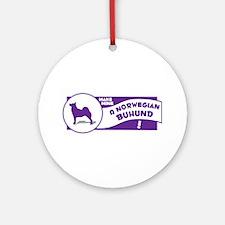 Make Mine Buhund Ornament (Round)