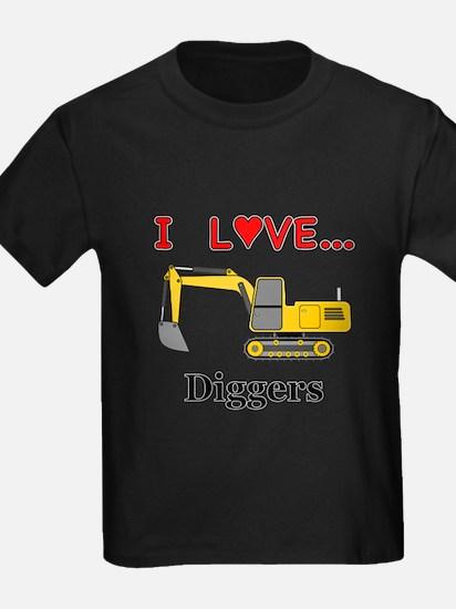 I Love Diggers T-Shirt