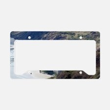 Sea wall at Robin Hoods Bay License Plate Holder