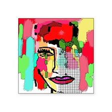 "Marushka  Square Sticker 3"" x 3"""