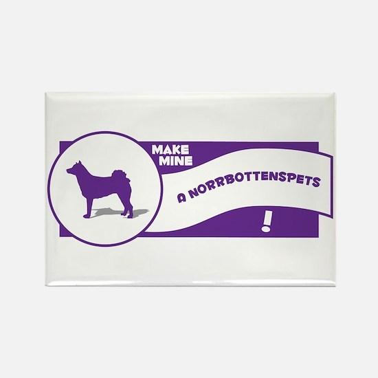 Make Mine Norrbottenspets Rectangle Magnet (100 pa