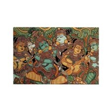 Ancient Indian Mural Art Rectangle Magnet
