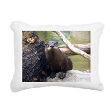 otter.JPG Rectangular Canvas Pillow