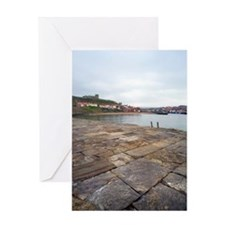 Detail of the East Pier in Whitby Greeting Card