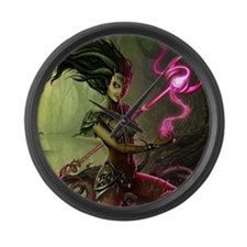 swamp_witch_by_igor (6000 x 4512) Large Wall Clock