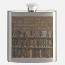 Bookshelves and Quotation Flask