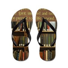Bookshelves and Quotation Flip Flops