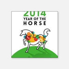 "YEAR OF THE HORSE 2014 Square Sticker 3"" x 3"""