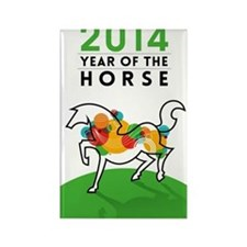 YEAR OF THE HORSE 2014 Rectangle Magnet