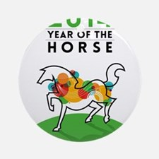 YEAR OF THE HORSE 2014 Round Ornament