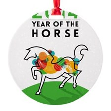 YEAR OF THE HORSE 2014 Ornament