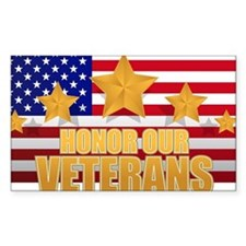 HONOR OUR VETRANS Decal