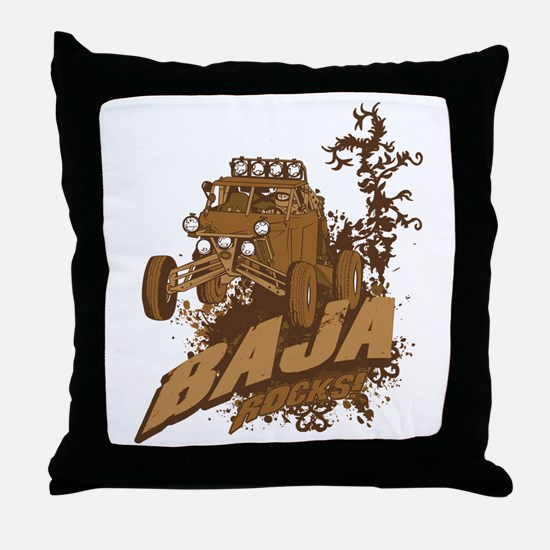 Baja Rocks Throw Pillow