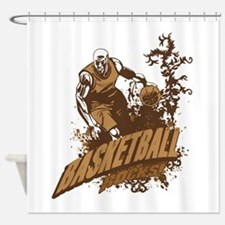 Basketball Rocks Shower Curtain