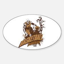 Basketball Rocks Sticker (Oval)