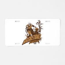 Basketball Rocks Aluminum License Plate