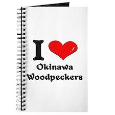 I love okinawa woodpeckers Journal