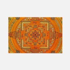 Tibetan Art Mandala Rectangle Magnet