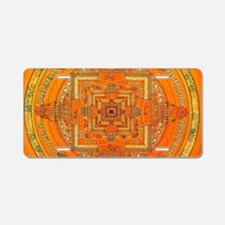 Tibetan Art Mandala Aluminum License Plate