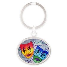Comedy And Tragedy Star Eyes Oval Keychains