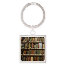 Bookshelves Square Keychain