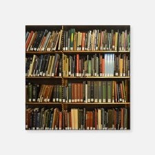"Bookshelves Square Sticker 3"" x 3"""