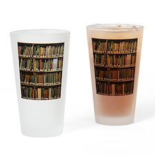 Bookshelves Drinking Glass