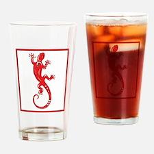 Red Lizard Drinking Glass