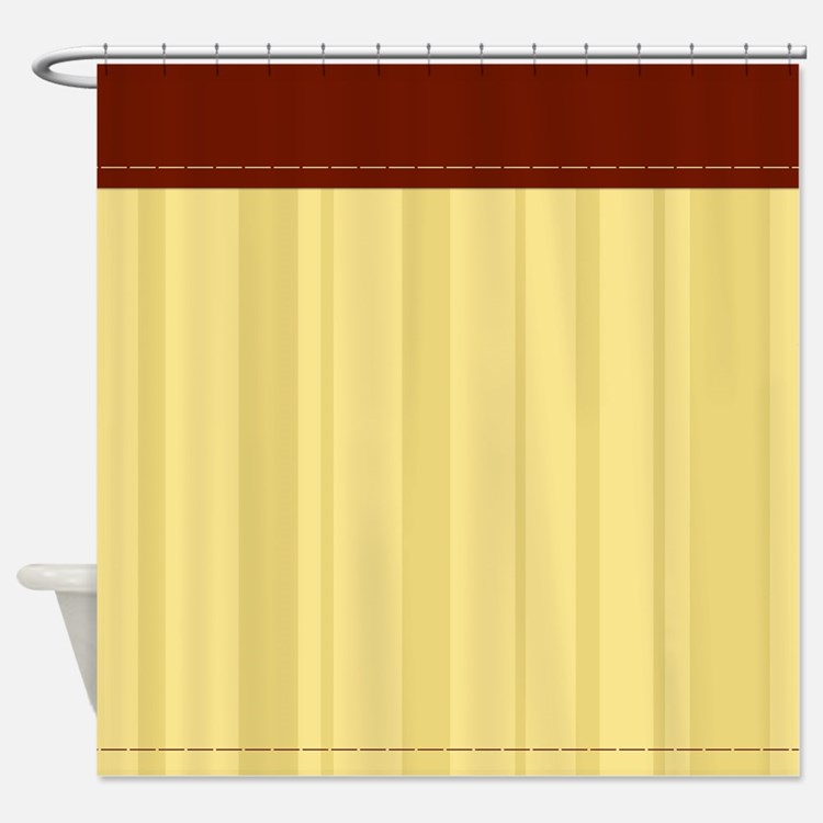 Stripe Tan Vertical Shower Curtains Stripe Tan Vertical Fabric Shower Curta