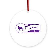 Make Mine Mudi Ornament (Round)
