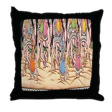 Saraswati Hindu Goddess Throw Pillow