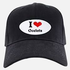 I love ocelots Baseball Hat