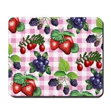 Berries and Gingham Mousepad