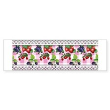 Berries and Gingham Bumper Sticker