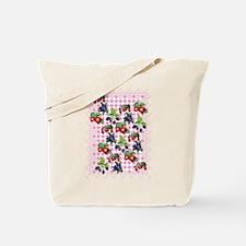 Berries and Gingham Tote Bag