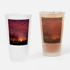 Silhouette Sunrise Drinking Glass