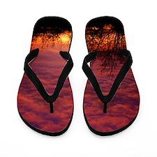 Silhouette Sunrise Flip Flops