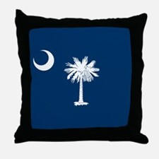 Flag of South Carolina Throw Pillow