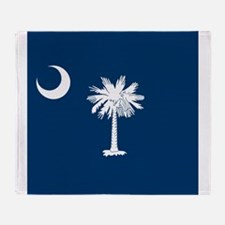 Flag of South Carolina Throw Blanket