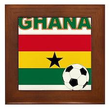 Ghana soccer Framed Tile