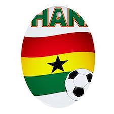 Ghana soccer Ornament (Oval)