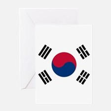 Flag of South Korea Greeting Cards
