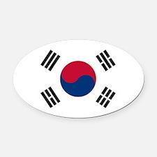 Flag of South Korea Oval Car Magnet