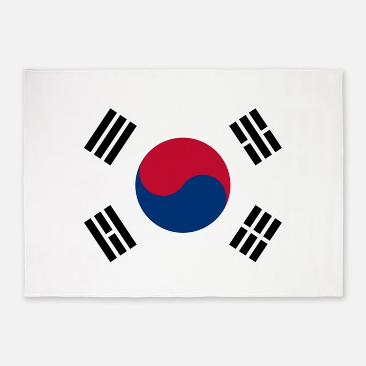 Flag of South Korea 5'x7'Area Rug