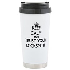 Keep Calm and Trust Your Locksmith Travel Mug