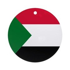 Flag of Sudan Ornament (Round)