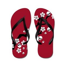Gothic Cherry Blossoms Flip Flops