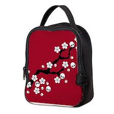 Gothic Cherry Blossoms Neoprene Lunch Bag