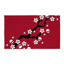 Gothic Cherry Blossoms 3'x5' Area Rug